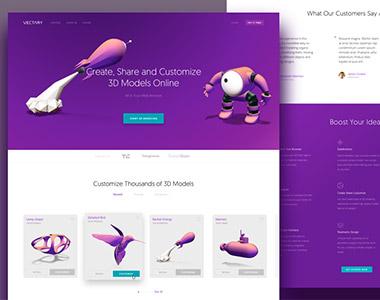 vectary在线的三维设计工具界面设计