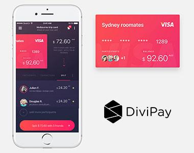 DiviPay在线支付App界面设计