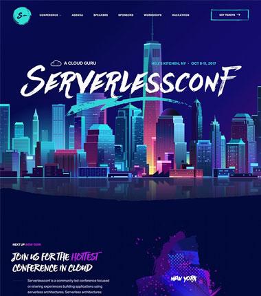 Serverlessconf NYC登陆页面